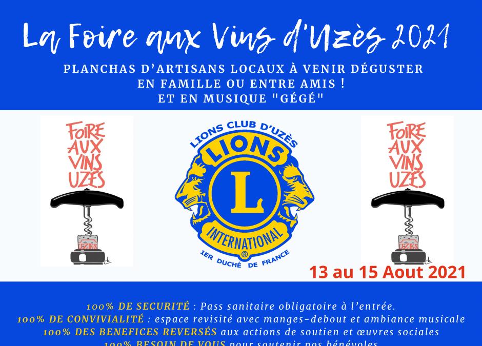 Foire aux vins 2021 Uzès